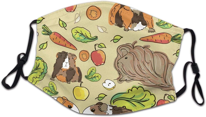 Kids Guinea Pigs Pets Food Face Mask Boys Girls Washable Reusable Neck Gaiter Bandanas