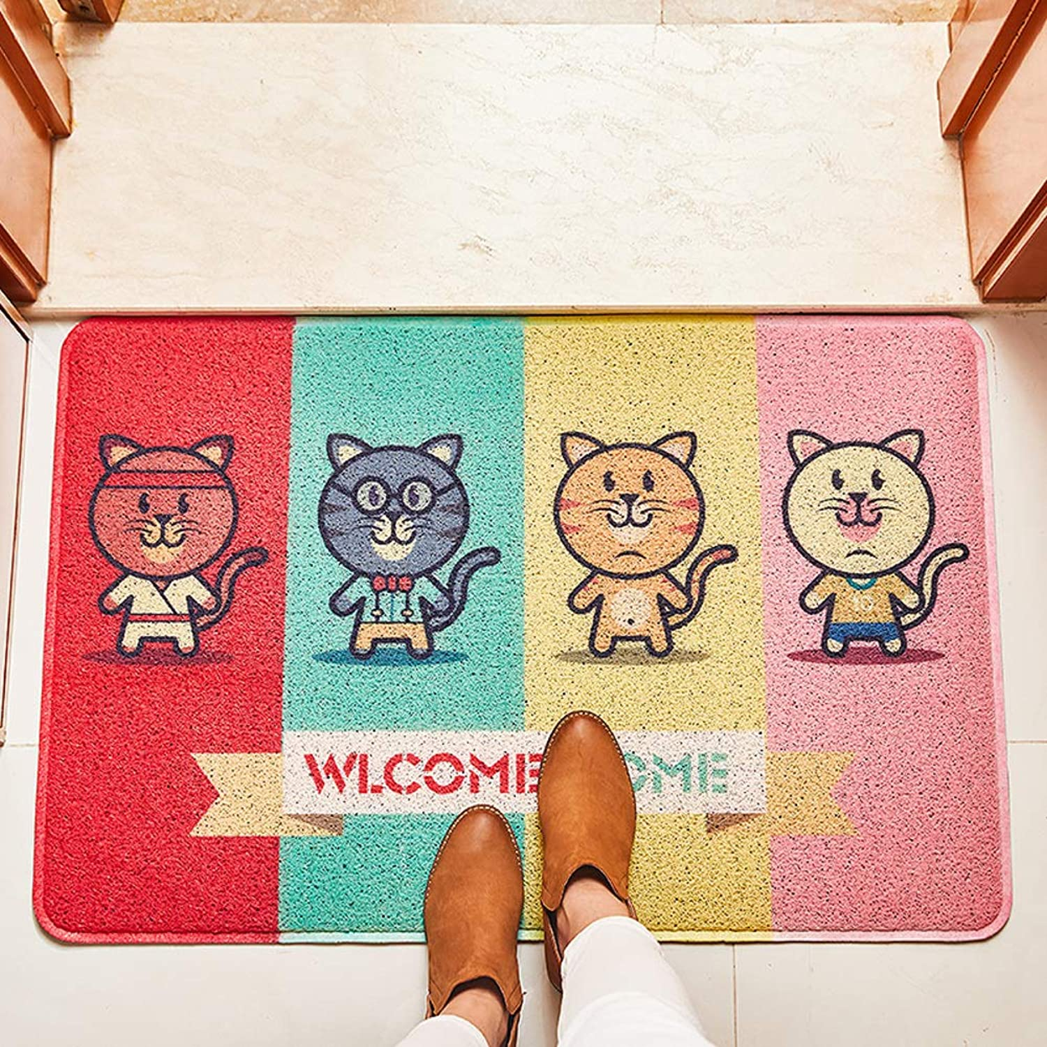 Front Entrance Door mat,Floor mat Door mat Non-Slip Wear-Resistant Carpet Door mat Entrance Door mats-colorful 60x90cm(24x35inch)