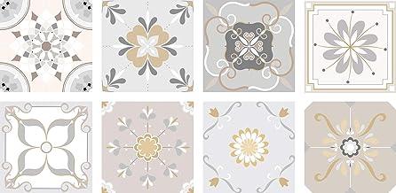 Pegatinas de Vinilo con Auto-adhesivo de Azulejos Decorativos para Pared, Muebles de Cocina y Baño, 8 PCS de 10cm / 15cm / 20cm, Vinilos Decorativos Impermeables (8pcs de 15x15cm)