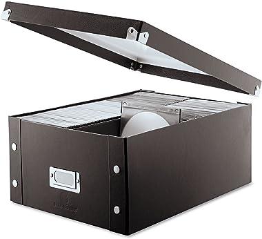 Snap-N-Store SNS01658 Media Storage Box, Holds 120 Slim/60 Standard Cases