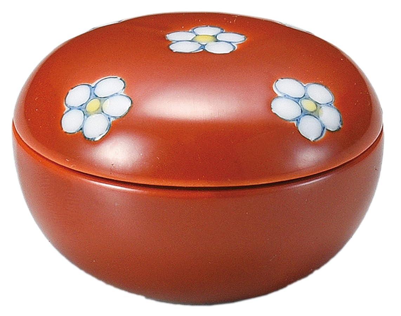 必需品農業の属する美濃焼 小鉢 業務用 日本製 5×3.5㎝ 梅散らし蓋付珍味(赤) 11424234