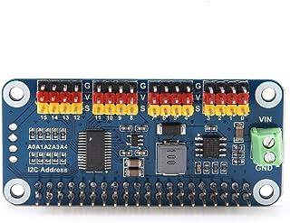 Raspberry Pi Zero/Zero W/Zero WH / 2B / 3B / 3B +用ステアリングアクチュエータードライバーボード16チャンネル12ビット解像度、ロボット用ステアリングドライバーボードPWMサーボモータードライバー...