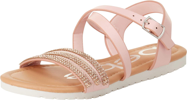 bebe Girls' Sandals – Rhinestone Criss Strap Studded Cross Max 48% OFF High quality new
