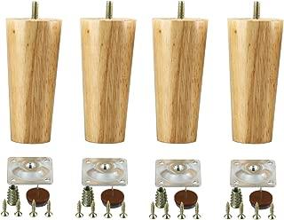 Homend 4 Pack Wood Sofa Legs, Furniture Legs 5