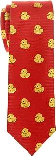 Classic Rubber Duck Woven Microfiber Skinny Tie Necktie - Various Colors