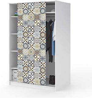 Stickers adhésifs Meuble | Sticker Autocollant Carrelage - Décoration pour Tables Armoires Commodes Étagères | 120 x 200 cm