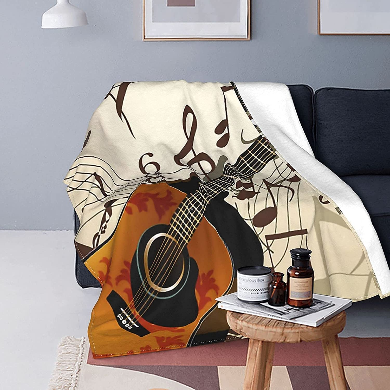 Blanket Vintage Music Notes Guitar online shop Phoenix Mall Bed Fleece So