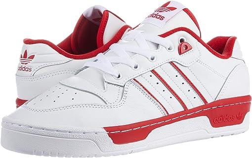 Footwear White/Footwear White/Scarlet