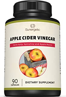 Premium Apple Cider Vinegar Capsules – Includes Apple Pectin, Spirulina & Kelp – Helps Support Digestion & Circulation – Powerful Apple Cider Vinegar Pills – 90 Apple Cider Vinegar Capsules