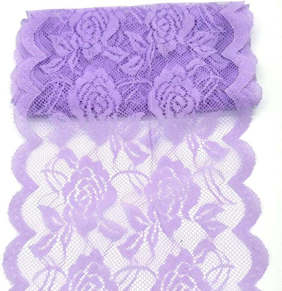 11 Yards Width Ranking TOP1 6inch Rose T Lace Stretch Ribbon Embroidered Max 50% OFF