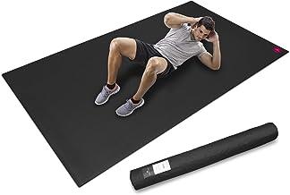 SHANTI NATION - Cardio Mat - grote fitnessmat - lang en breed (2,5 x 1,5 m) - incl. opbergtas - voor intensieve workouts -...