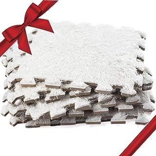 Dooboe Interlocking Foam Mats – Interlocking Floor Mats - Interlocking Floor Tiles - Carpet Tiles - Plush Carpet Area Rug – White - Non-Toxic, Anti-Fatigue, Premium Puzzle Floor Mat