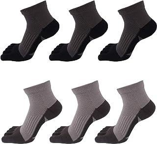 Pack de Calcetines de Dedos para Hombre Transpirable de Algodón Calcetines Deportivos Cortos para Running Ciclismo - Talla 39-44