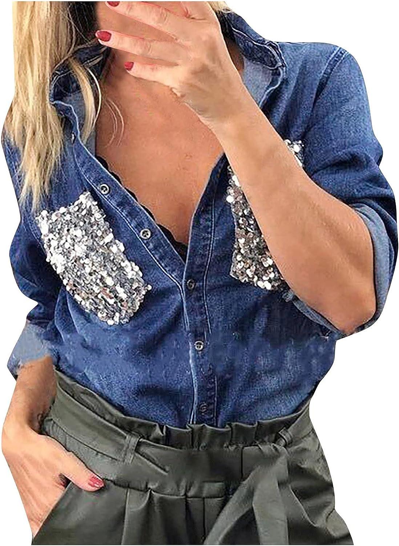 Women's Oversized Denim Jacket Long Boyfriend Distresse Jean Jacket