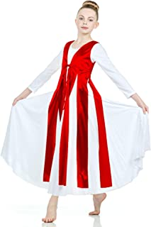 Danzcue Womens Metallic Streamer Tunic (Dress not Included)