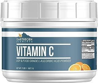 Eartheborn Elements Vitamin C Powder (L-Ascorbic Acid) (2 lb) High Dosage, Antioxidant Boost & Immunity Support