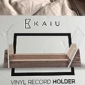 Kiefernholz Vinyl-Schallplattenst/änder Massivholz mit kristallklarem Acrylhalter Langlebig und robust gro/ße Lagerung f/ür bis zu 25 Alben MMUK Vinyl-Schallplattenhalter