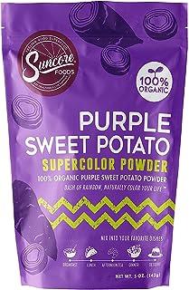 Suncore Foods – Premium Purple Sweet Potato Supercolor Powder, 5oz each (1 Pack) – Natural Purple Sweet Potato Food Colori...