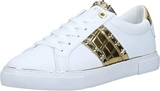 GUESS Grayzin Women's Athletic & Outdoor Shoes, White (White/Multicolor WHMLL), 38.5 EU