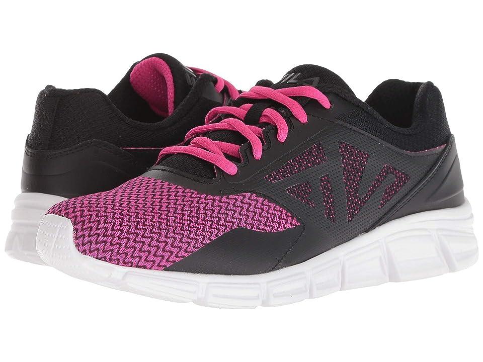 Fila Skyspan Running (Black/Knockout Pink/White) Women