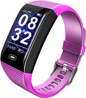 YJCol Pulsera Actividad Ip67 Rastreador de Fitness Pulsera Inteligente con Pulsómetro Pulsera Presión Arterial Podómetro Calorías Distancia Llamar SMS SNS Recordar para Hombres Mujeres Niños