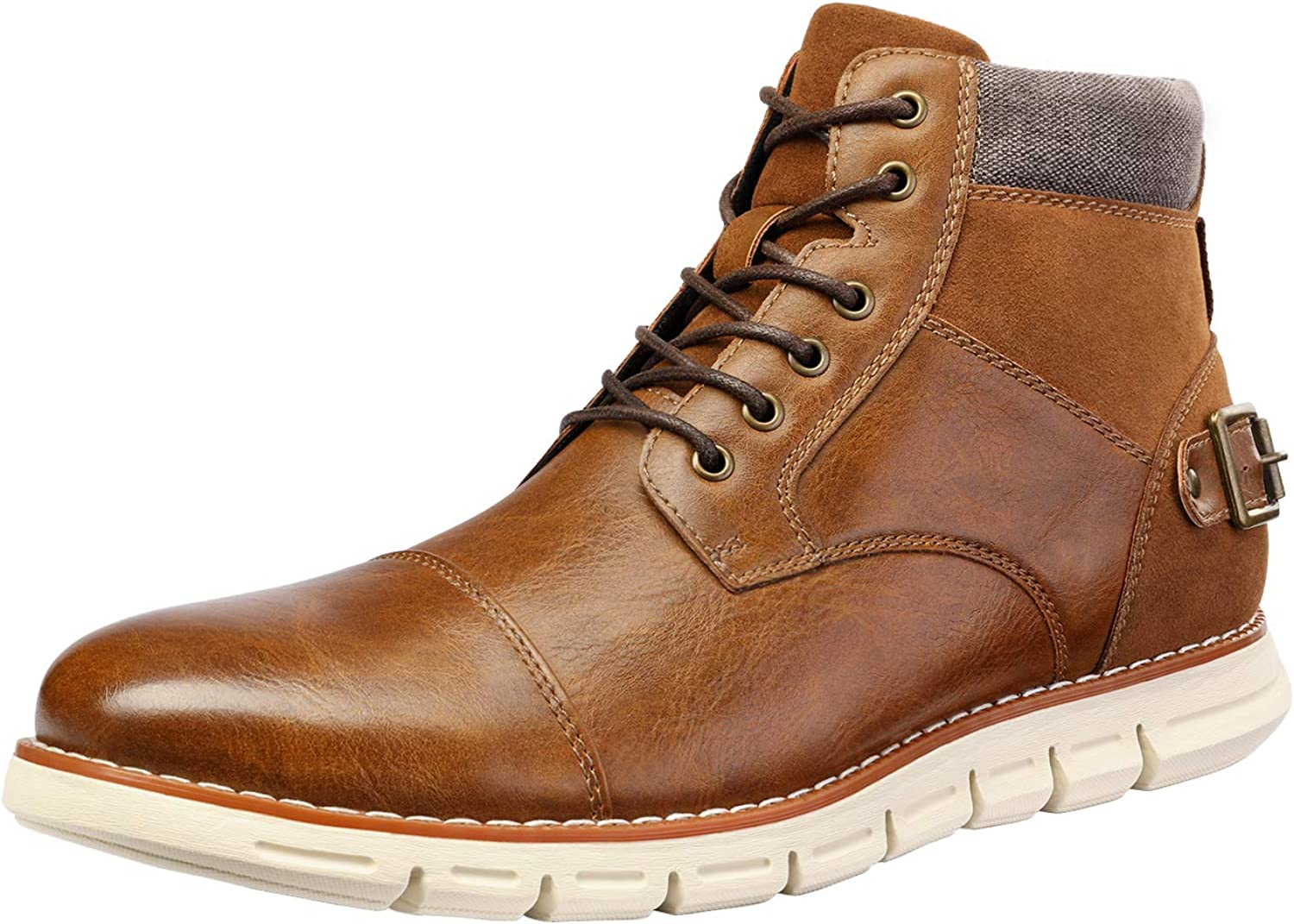 Bruno Marc Men's lowest price Cap Toe Casual Chukka Boots Combat Dress OFFicial site