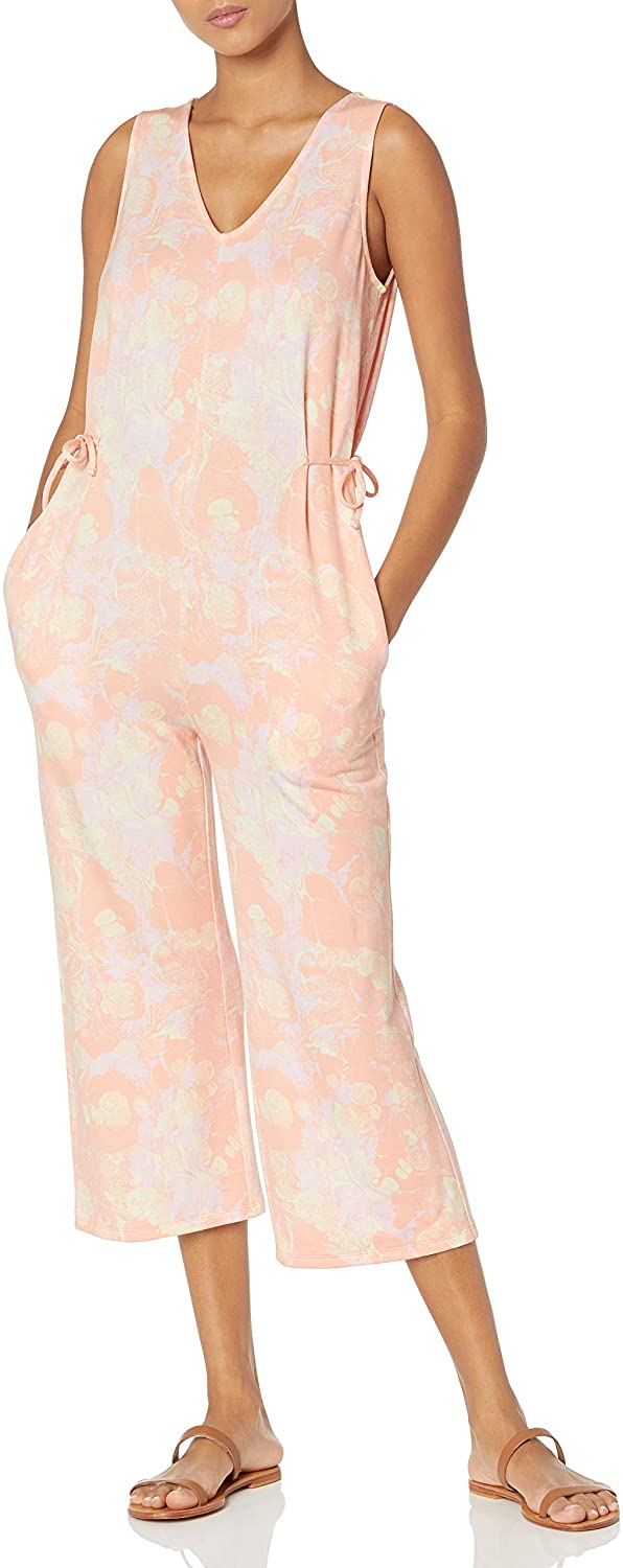 Seasonal Wrap Introduction Daily Ritual Women's Supersoft Terry Trust Jumpsuit Sleeveless V-Neck