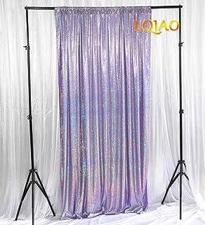 LQIAO Backdrop 5x7 Laser Dark Lavender Draps Happy Birthday Background YouTube Videos Quarantine Party Decorations Wedding...