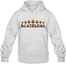 MAM2 Arts Hood Pop Futbol Club Barcelona FC Champion Men's Hood Sweatshirt Ash
