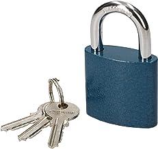 KOTARBAU® Gietijzeren hangslot, 40 mm, voor inbraakbeveiliging, universeel slot, hangslot, beugelslot met blauwe behuizing