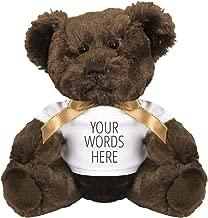 Custom Text Cuddly Gift: 7 Inch Teddy Bear Stuffed Animal
