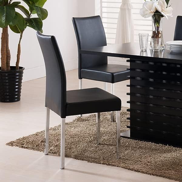 K B Furniture Newton Black Dining Chair Set Of 4