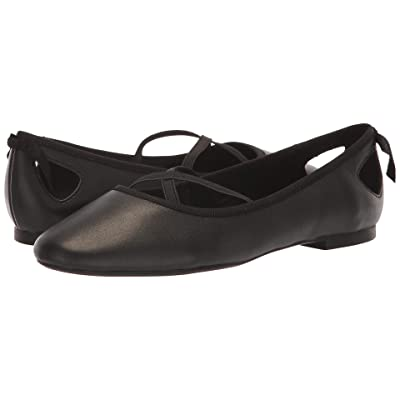Athena Alexander Saint Paul Flat (Black Smooth Leather) Women