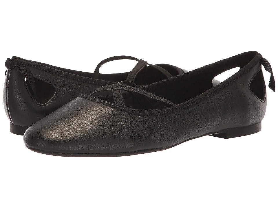 Athena Alexander Saint Paul Flat (Black Smooth Leather) Women