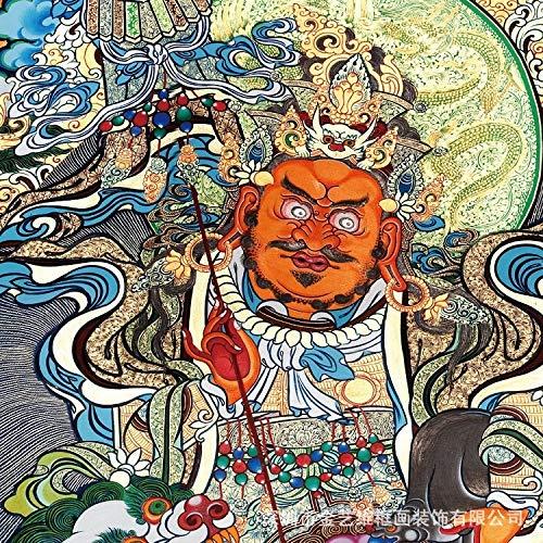 Pintura Y Caligrafía Decoración Arte Micro-Spray Reproducción Pintura Y Pintura Simulación De Regalo Caligrafía Y Pintura - Imagen De Buda Thangka - Fortuna