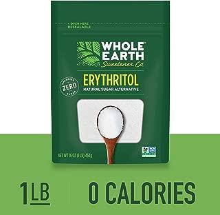 WHOLE EARTH SWEETENER 100% Erythritol Sweetener, 1 Pound Bag, Keto Sweetener, Natural Sugar Alternative, Baking Sugar Substitute, Zero Calorie Sweetener, Gluten Free, Non-GMO