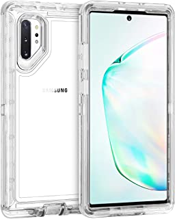 Coolden Hybrid Clear Phone Case for Galaxy Note 10 Plus 6.8 Inches, Heavy Duty Protective Dual Layer Shockproof Case with Hard PC Bumper Soft TPU Back for 2019 Galaxy Note 10+ Plus 5G, Transparent
