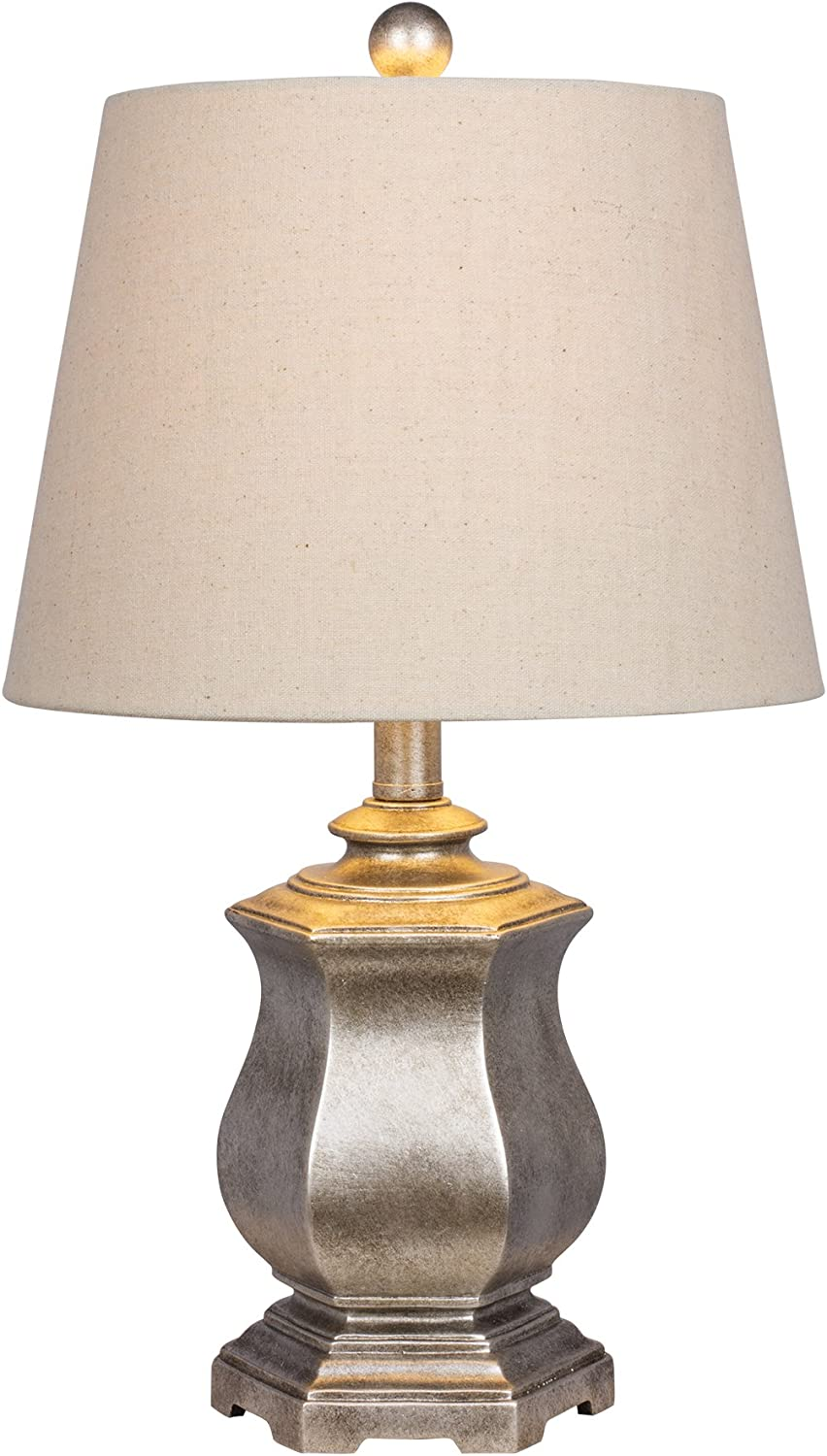 Fangio Lighting W-6215SIL Table Lamp, Silver