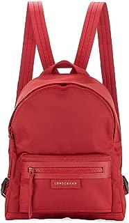Longchamp Women's Le Pliage Red Backpack Nylon