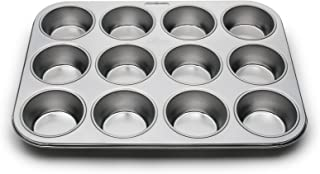 Fox Run 12-Cup Muffin Stainless Steel Baking Pans, 10.5 x 13.75 x 1.25 inches