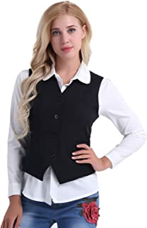 Office Lady Vest Women Short Waistcoat Business Dress V Neck Uniform Formal