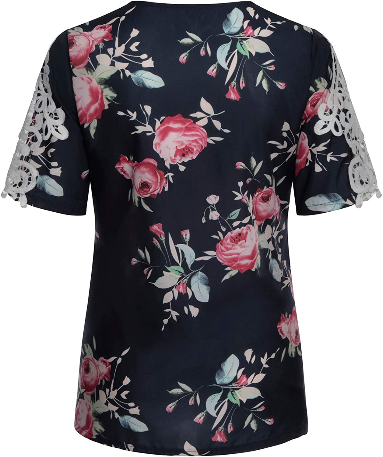 Womens Summer Tops,Women Casual Fashion Printed Zipper Shirts Strap Cold Shoulder Tops Short Sleeved V-Neck Tee