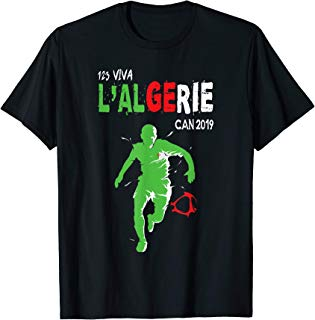 Algeria Team Football Jersey soccer Africa Cup CAN 2019 Gift T-Shirt
