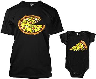 Pizza Pie/Slice Matching Bodysuit & Men's T-Shirt