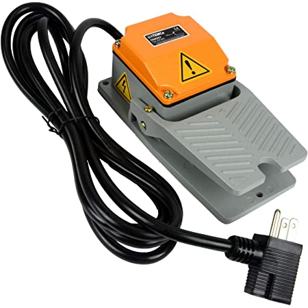 Heavy Duty Foot Switch Momentary 15A 250VAC SPDT Pedal with Guard Cast Aluminum