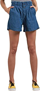 Women's Junior's Yo Shortie Paper Bag Elastic Waist Short