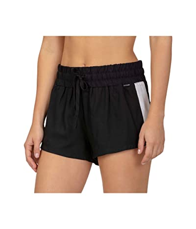 Hurley Tuxedo Beach Shorts (Black) Women