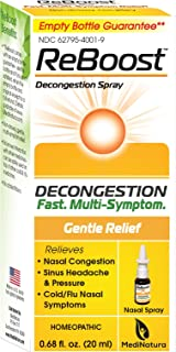 MediNatura ReBoost Natural Decongestion and Cold/Flu Nasal Symptom Relief - 0.68oz Nasal Spray