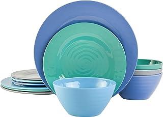 3er Set Blueband Melamine Camping Children Plate Deep Plate