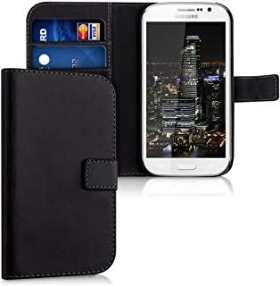 kwmobile Wallet Case for Samsung Galaxy Grand Neo/Duos - Protective PU Leather Flip Cover with Magnetic Closure, Card Slots and Kickstand